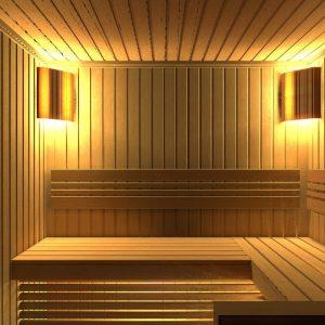 Строительство сауны с панно из гималайской соли