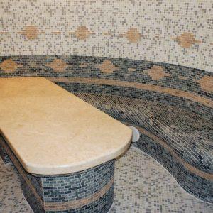 Массажный стол в хамаме под ключ